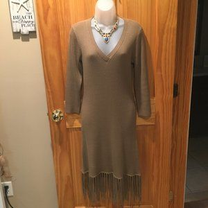 Boston Proper Fringe Bottom Dress - Size M